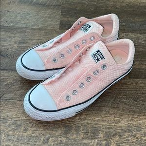 {2 for $30} Textured Pink Converse
